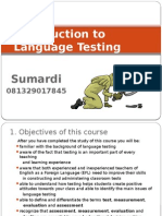 1. Introduction to Language Testing