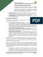 Evolucion de Balanza de Pagos de Peru - Trabajo