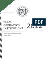 Plan Operativo Institucional - 2012