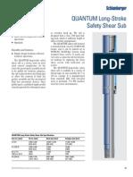 p45 Quantum Long Stroke Safety Shear Sub