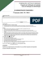 2014.1 p2 - Administração Financeira i - Tipo 01 (1)