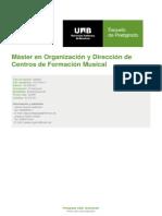 Máster en Organización y Dirección de Centros de Formación Musical UAB