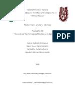 Practica No.10 Conexión de Transformadores Monófasicos en Banco Trifásico