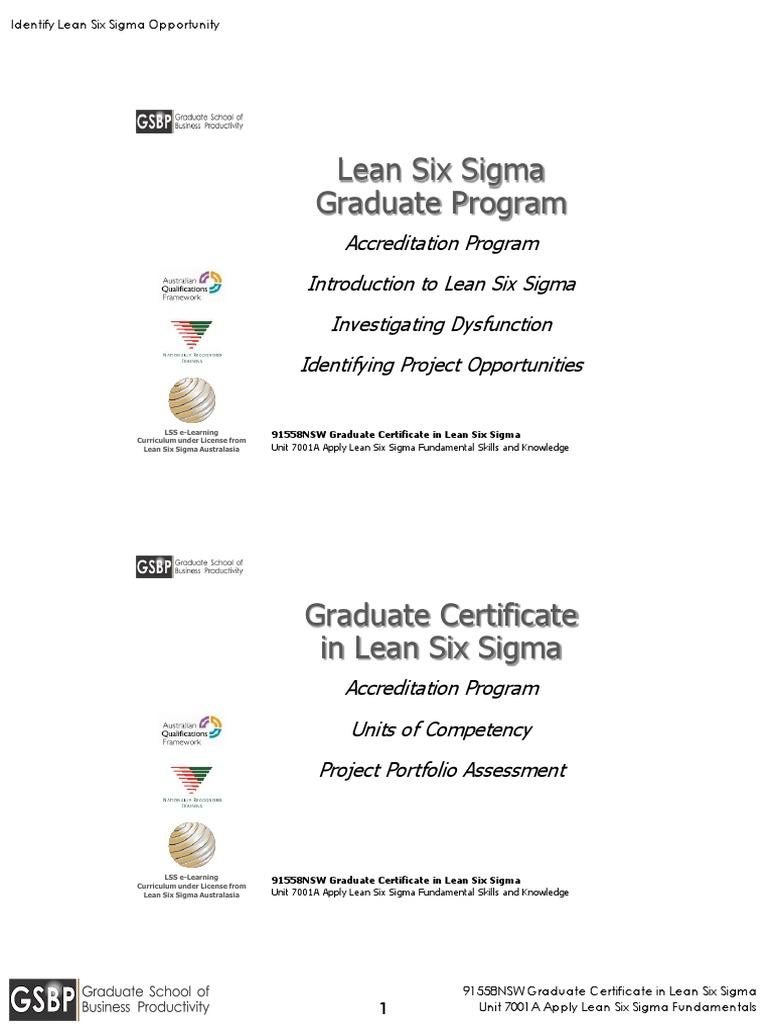 1 7001a 1 02d Identify Lean Six Sigma Opportunities