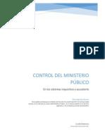 Ministerio publico en el sistema inquisitivo y acusatorio