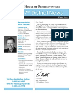 Probst Winter 2010 17th District News
