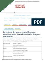 La Historia Del Soneto Desde Mendoza, Garcilaso y Sor Juana Hasta Darío, Borges e Ibarbourou _ Departamento de Educación