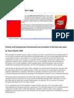 Finnish and Scandinavian Communists Revolution in Inter-war