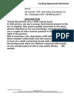 Aptis SpeakingAptis Speaking - Part 2 Model Answer