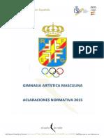 Aclaraciones Normativa GAM 2015