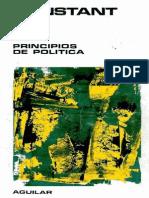 Principios de Política Aplicables a Todos Los Gobiernos – Bemjamín Constant