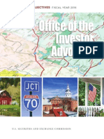 Sec Office Investor Advocate Report on Objectives Fy2016