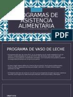 Programas de Asistencia Alimentaria Ysalud Ocupacional