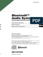 Manual Radio Sony Mexbt2500 en Es Fr
