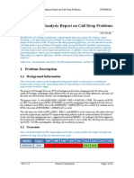 [XX Project] Analysis Report on Call Drop Problems.doc