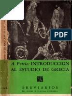 Petrie, A. - Introducción Al Estudio de Grecia