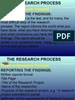Reporting Findings