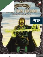 Magic Item Creation