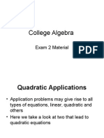 College Algebra Unit 1 (B) Equations and Inequalities.ppt