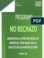 Programa No Rechazo
