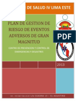 Plan de Gestion de Riesgo - Eventos Adversos de Gran Magnitud 2013