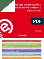 requisitos sanitarios de exportacion japon kores