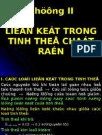 Chuong II - Lien Ket Trong Tinh the Chat Ran