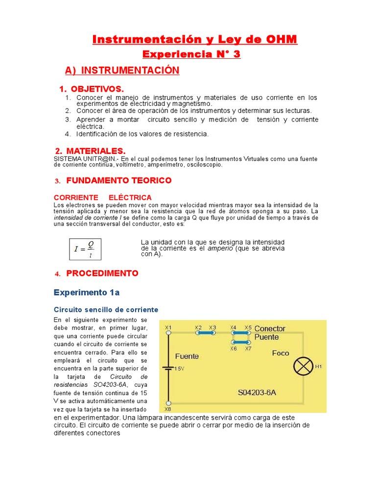 Circuito Sencillo : Laboratorio 3 unmsm