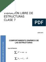 2015 UTEM ING ANTISISMICA CLASE 7 Vibraciones Libres de Estructuras