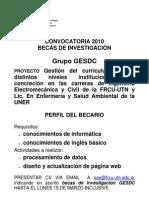 perfil  becarios 2010 GEsdc