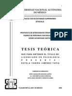 Tesis. Intervencion Terapeutica Para Padres de Personas Con Discapacidad