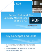 Bb_In-Class Presentation_Return, Risk and the Security Market Line (Ch 13, p 359-379)_Noel Fernandes