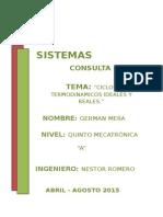 Ciclos Termodinamicos OTTO y DIESEL