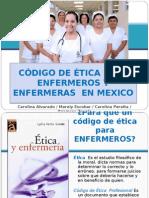 Código de Ética y Deontológico en Enfermería
