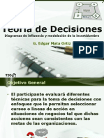Teoría de Decisiones 5 Diagramas de Influencia