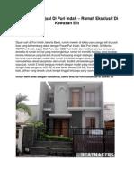 Iklan Rumah Dijual Di Puri Indah – Rumah Eksklusif Di Kawasan Elit - www.beatmakers.net