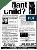 Defiant Child Print Ads