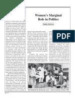 Women's Marginal Role in Politics
