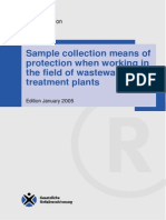 Sample collection means of protection when working in the field of wastewater treatment plants