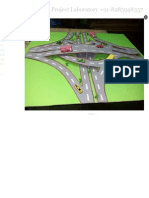 B Tech Civil Engineering Project - Scaled Model of Highways Underpass Bypass and Diversion Bridge
