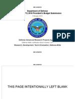 Darpa Budget Plan