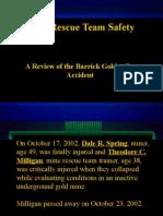 Mine Rescue Team Safety