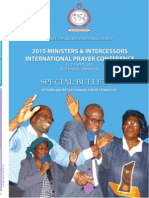 Cic Miniters and Intercessors International Prayer Conference Newsletter