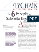 Six Pricniples for Stakeholders Management