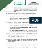 Délibération AG CEPB 010715
