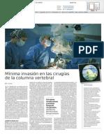 Mínima invasión en las cirugías de columna vertebral