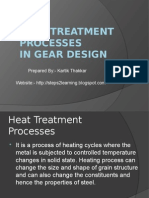 Heat Treatment Processes in Gear Design