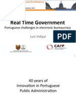 EGPA 2013 Luis Vidigal - Real Time Government