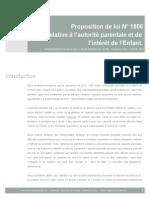 Abandon de Famille - Recommandations PPL N° 1856 (APIE)