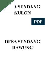 Daftar Nama Desa